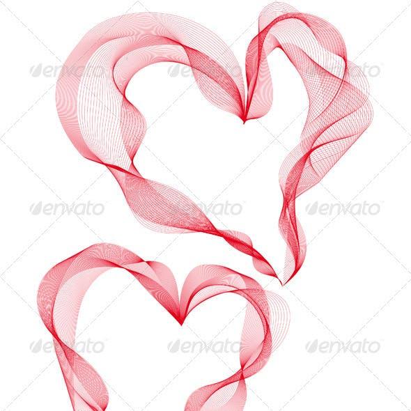 Abstract Heart Designs, Vector