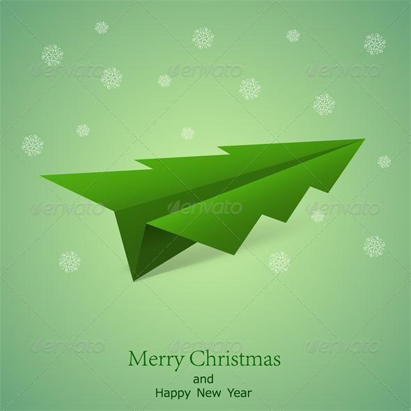 Vector concept of the Christmas tree - Christmas Seasons/Holidays