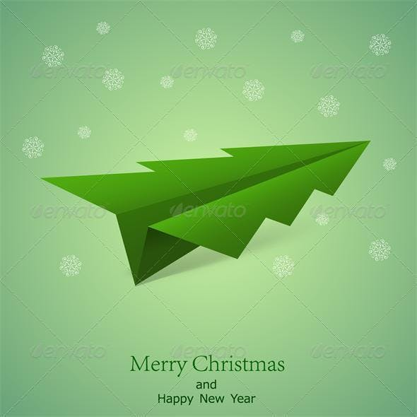 Vector concept of the Christmas tree