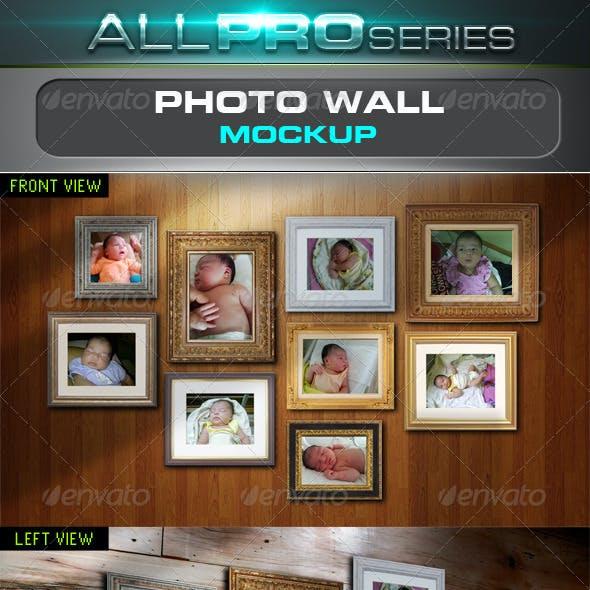 Photo Wall Mockup
