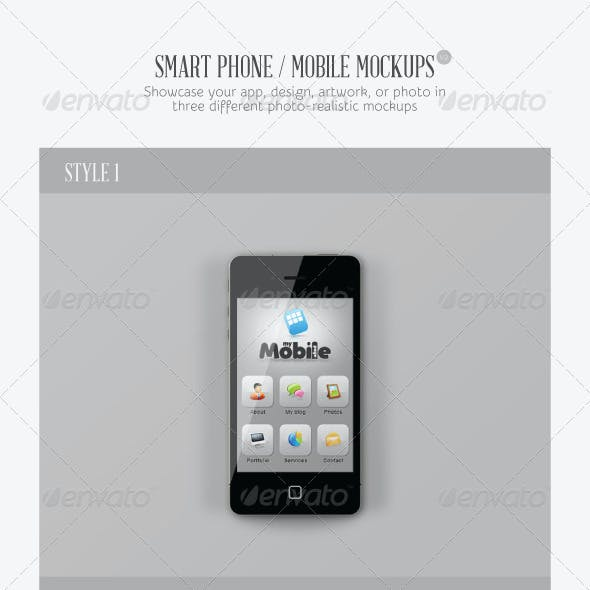 Smart Phone / Mobile Mock-ups V2