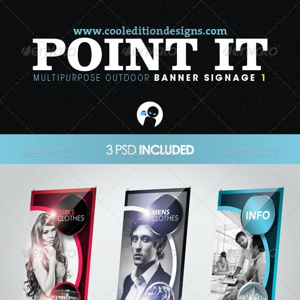 Point It - Multipurpose Outdoor Banner Signage 1