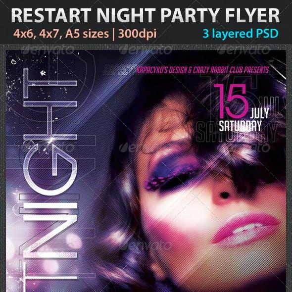 Restart Night Party Flye