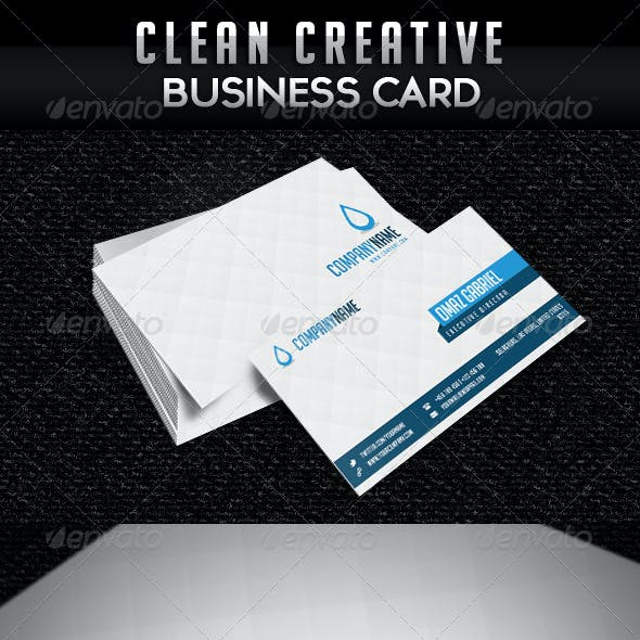 Creative Clean Minimalist Business Card