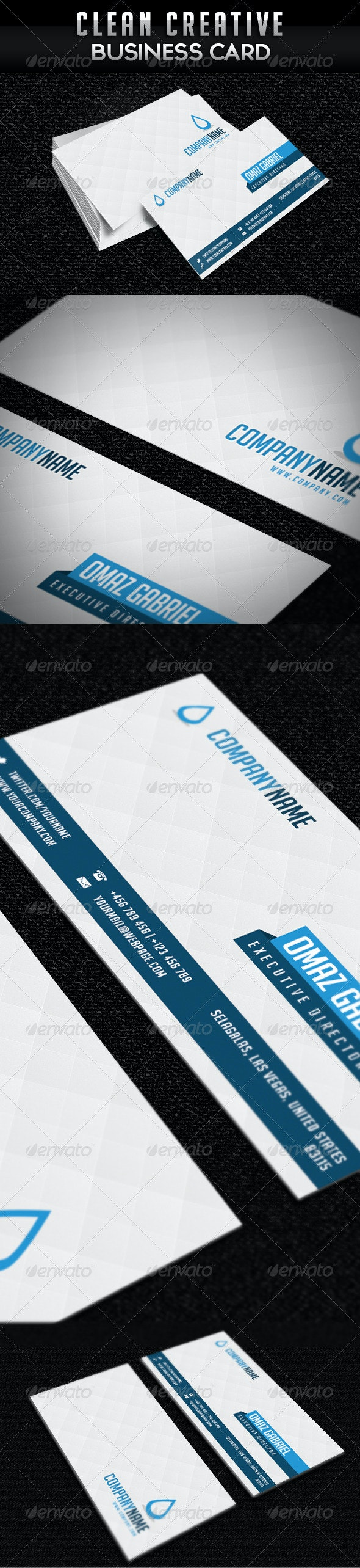 Creative Clean Minimalist Business Card - Creative Business Cards