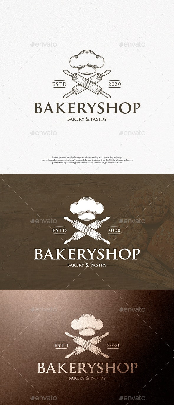 Chef Hat Cooking Logo Template - Food Logo Templates
