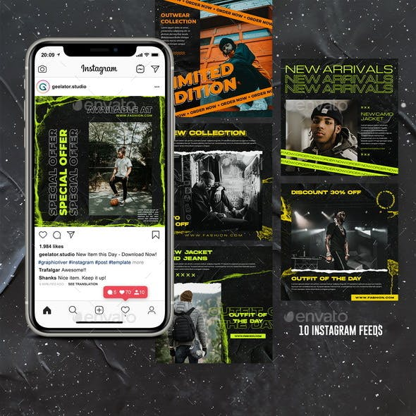 Streatwear Fashion Instagram Template