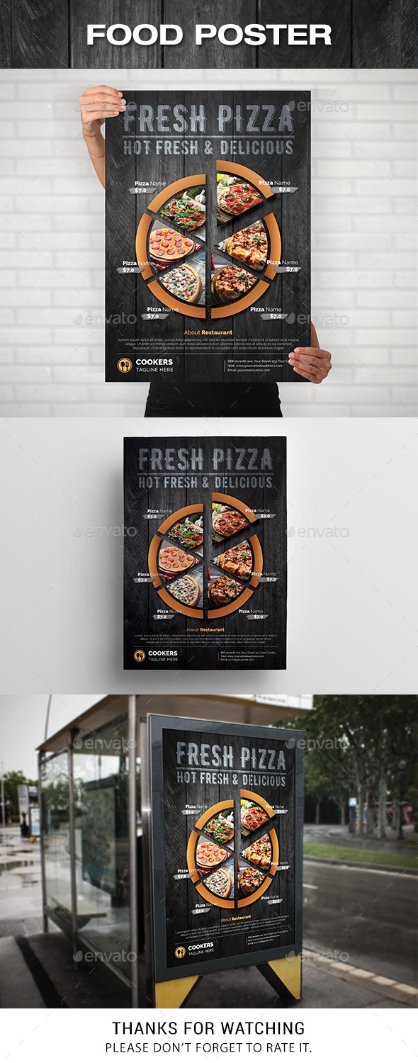 Food Poster / Pizza Poster - Signage Print Templates