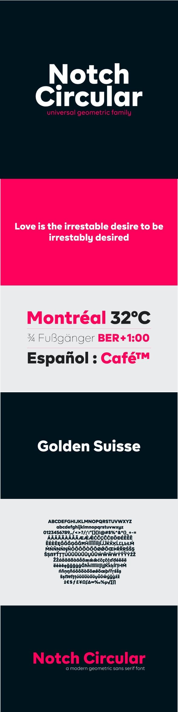 Notch Circular Geometric Sans Serif Font - Sans-Serif Fonts