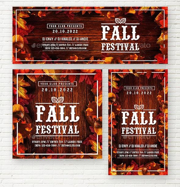 Autumn Festival Social Media Template - Social Media Web Elements