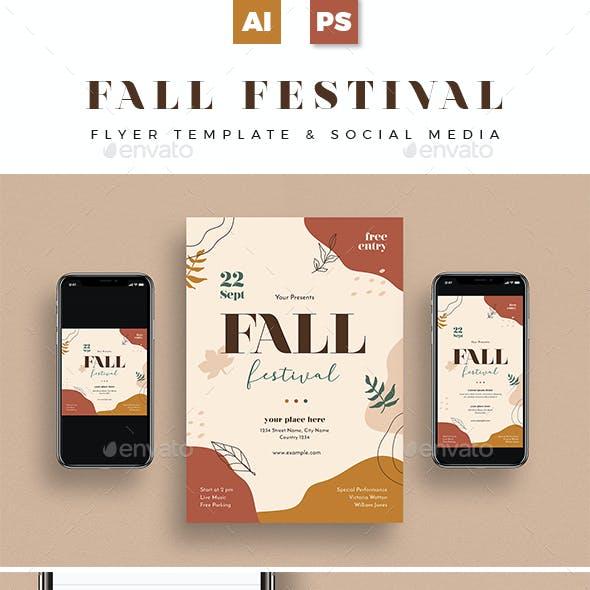 Fall Festival Flyer + Social Media