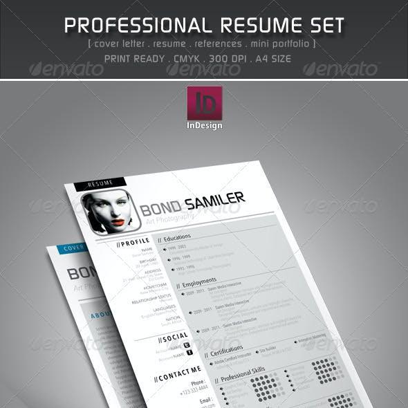Professional Resume Set