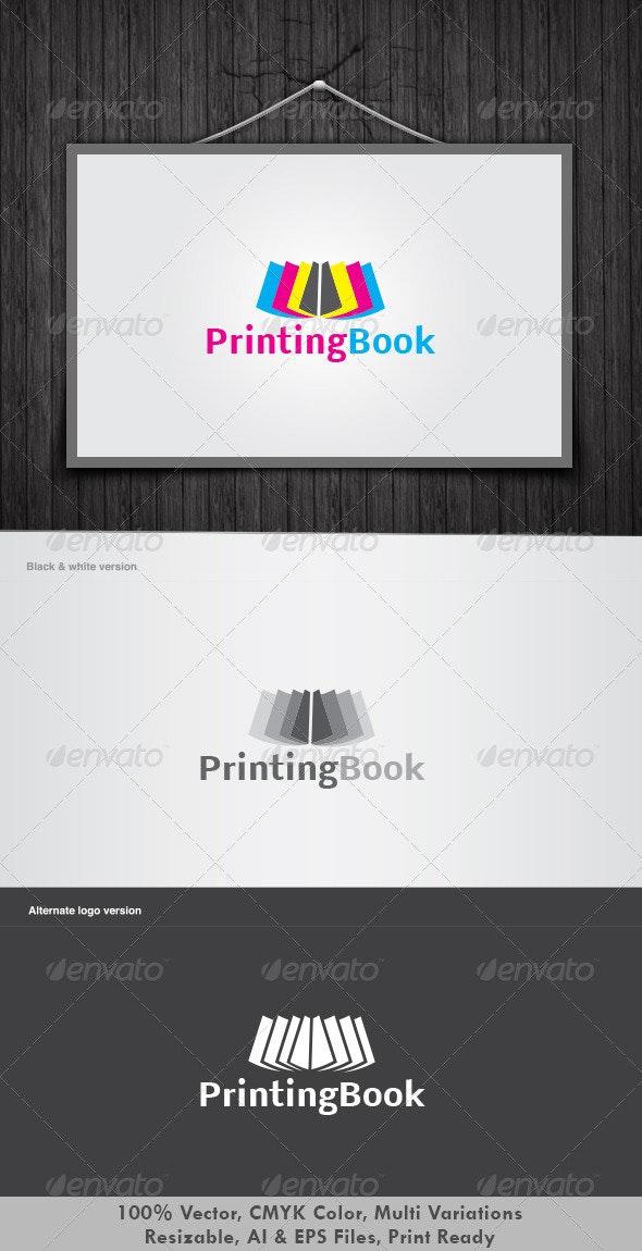 Printing Book Logo - Vector Abstract