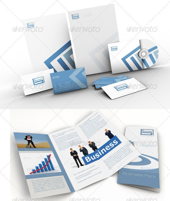 Business Park Corporate Identity Branding Package - Stationery Print Templates
