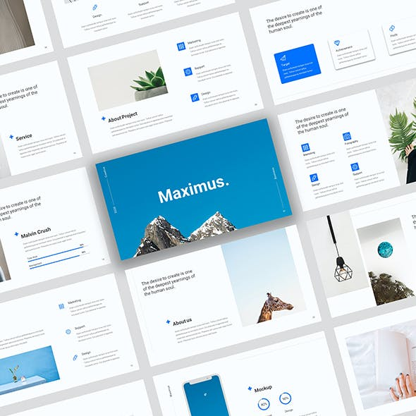 Maximus - Creative Bussines Google Slide Template