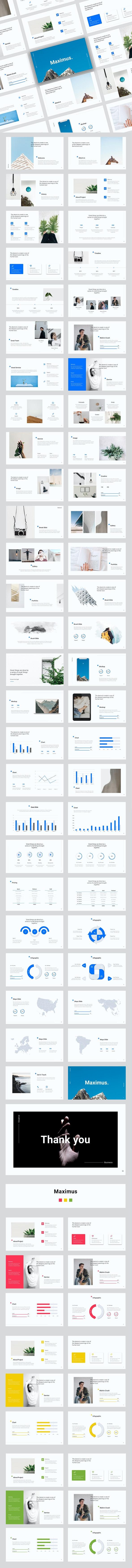 Maximus - Creative Bussines Google Slide Template - Google Slides Presentation Templates