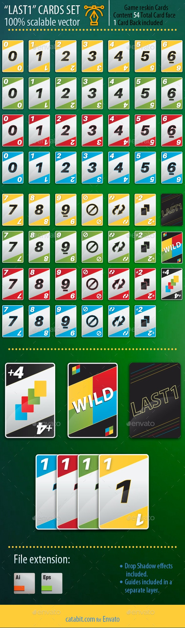 Last1 - Playing Card Set - Game Kits Game Assets