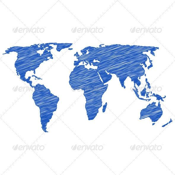 Drawing world map - Conceptual Vectors