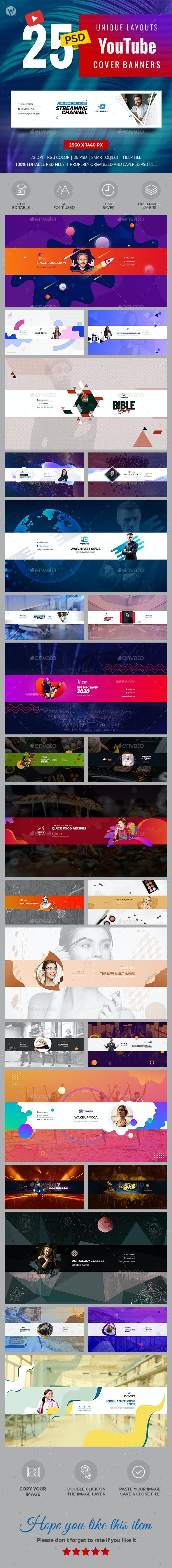 25 YouTube Covers - Social Media Web Elements