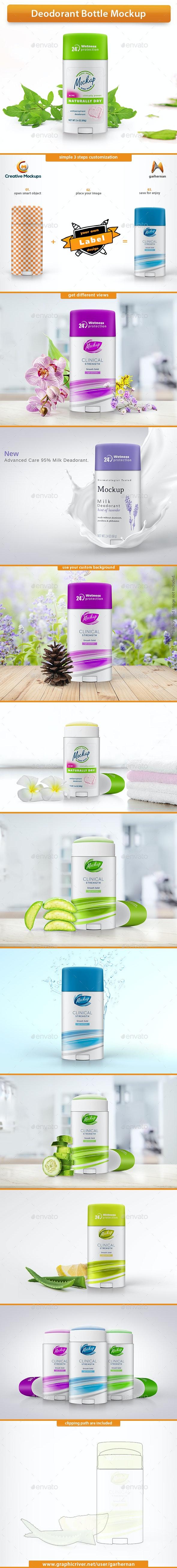Deodorant Bottle Mockup - Product Mock-Ups Graphics