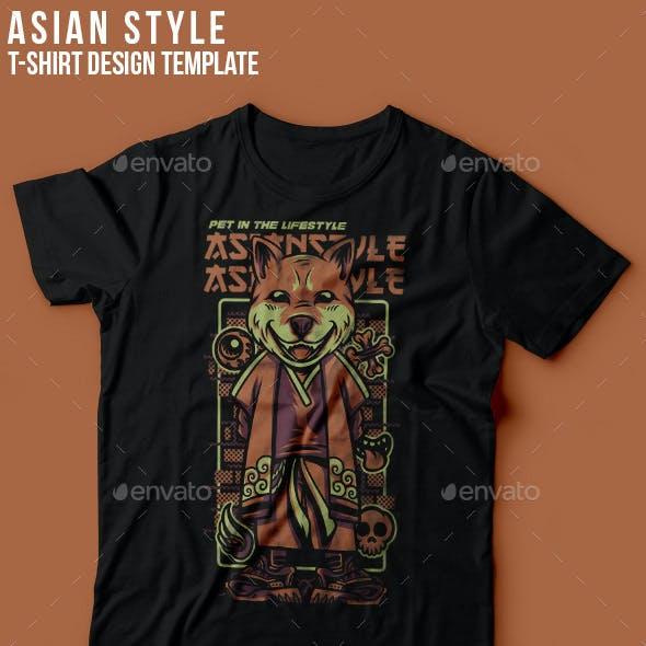 Asian Style T-Shirt Design