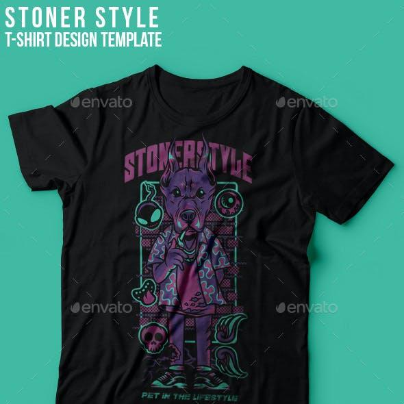 Stoner Style T-Shirt Design