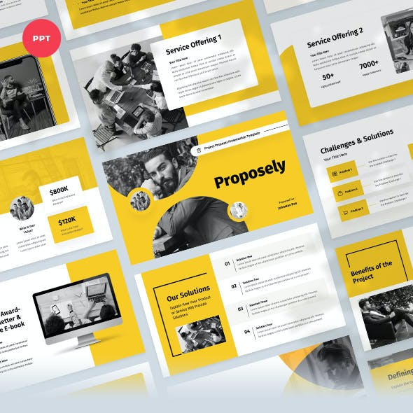 Project Proposal & Pitch Powerpoint Template