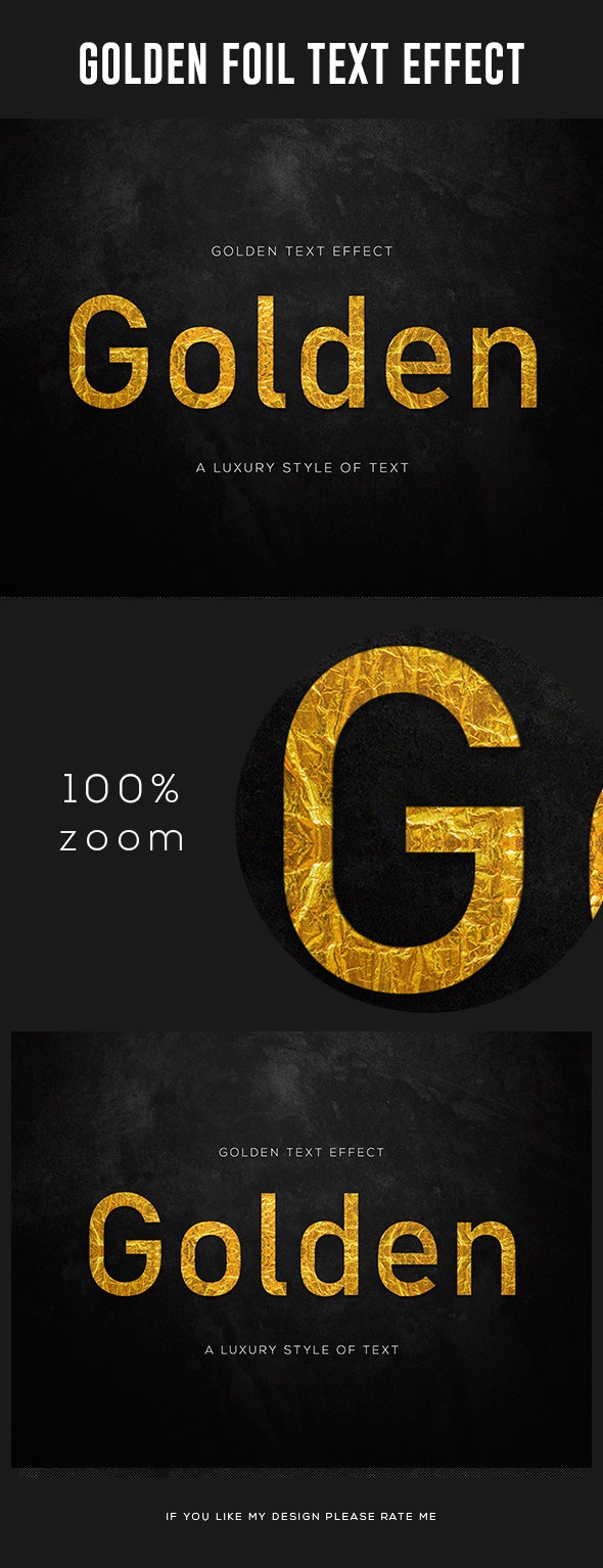 Gold Foil Text Effect - Text Effects Styles