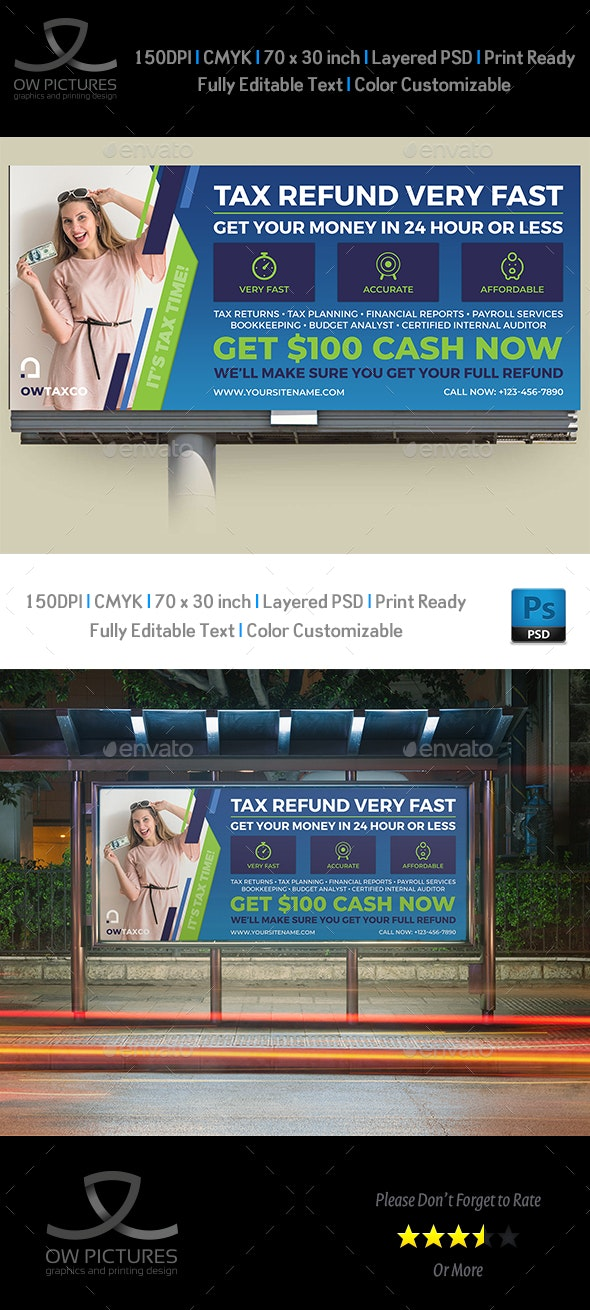 Tax and Accounting Billboard Template Vol.3 - Signage Print Templates
