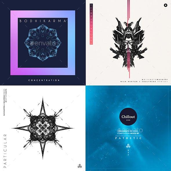 Music Album Cover Artwork Templates Bundle 35