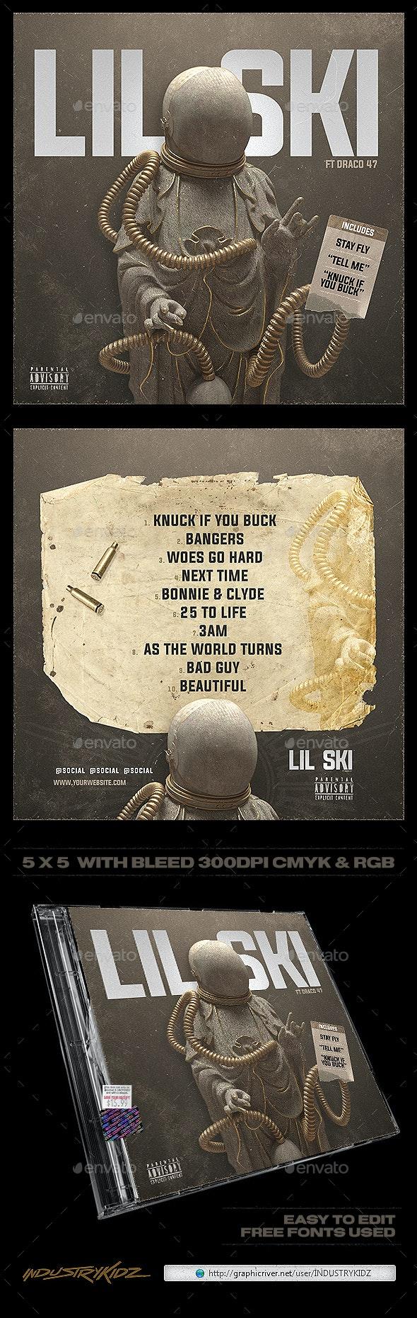 Mixtape Cover Template - CD & DVD Artwork Print Templates