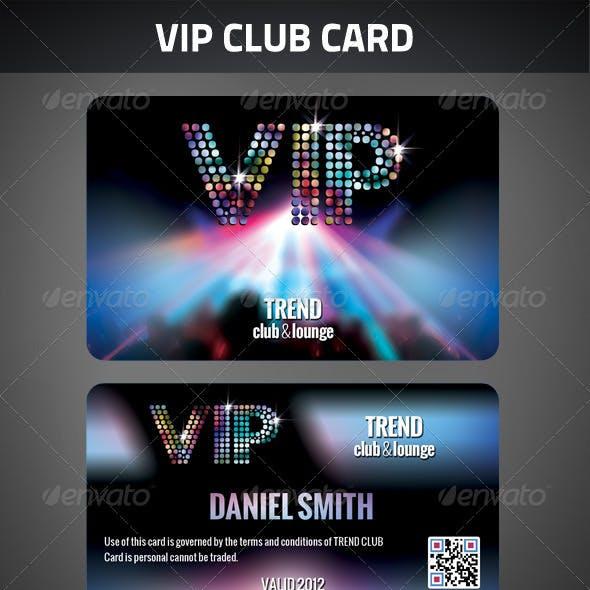 VIP Club Membership Card
