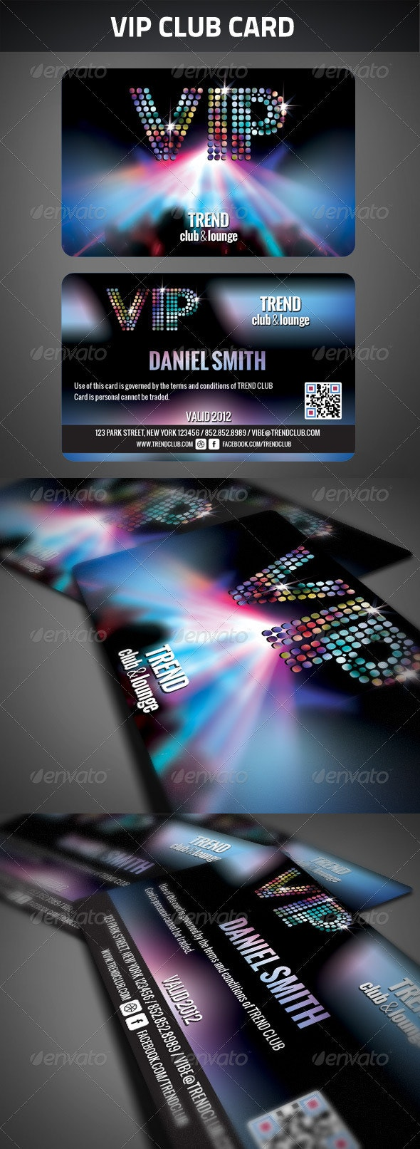 VIP Club Membership Card - Cards & Invites Print Templates