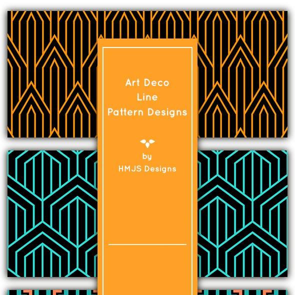 Art Deco Line Patterns