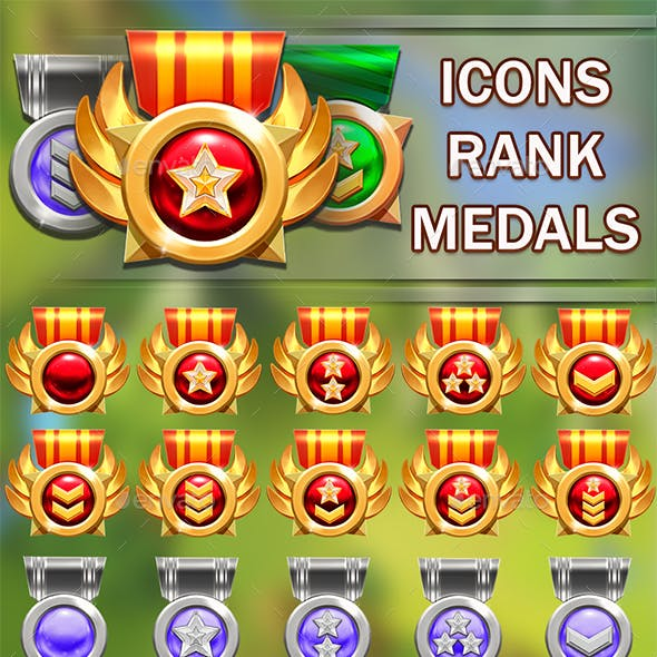 Icons Rank Medals