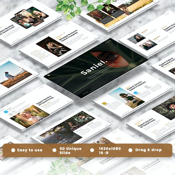 Saniel - Creative Googleslide Template