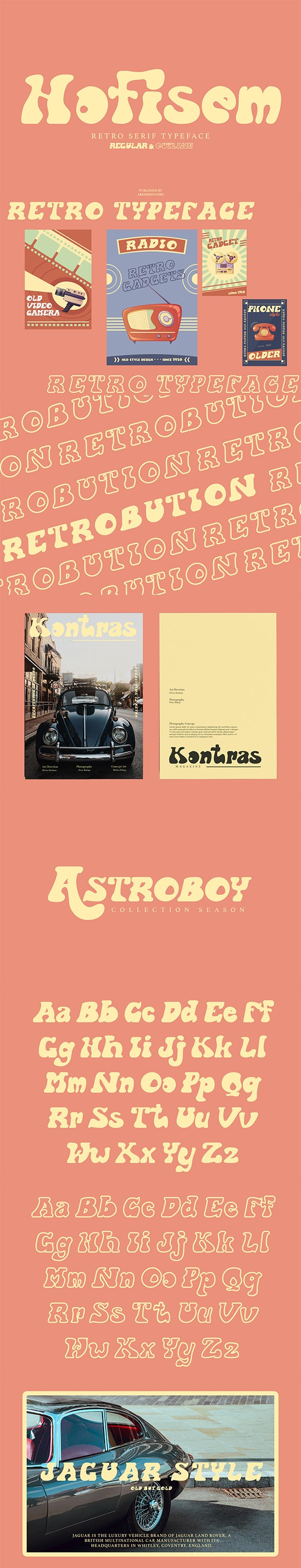 Hofisem Retro Serif Typeface - Fancy Fonts