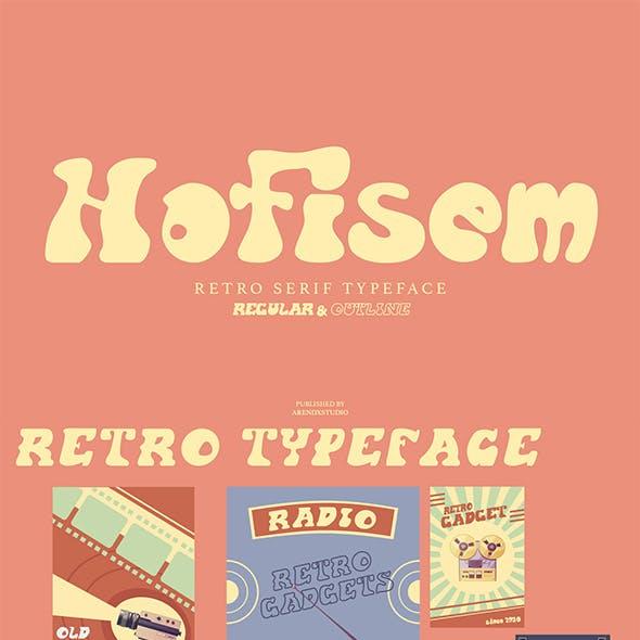 Hofisem Retro Serif Typeface