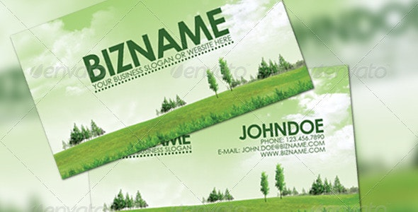 Green Business Card - Creative Business Cards