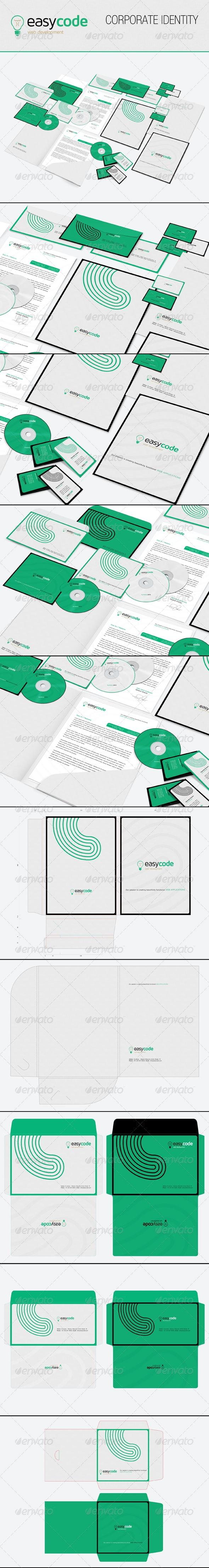 Easy Code Corporate Identity - Print Templates
