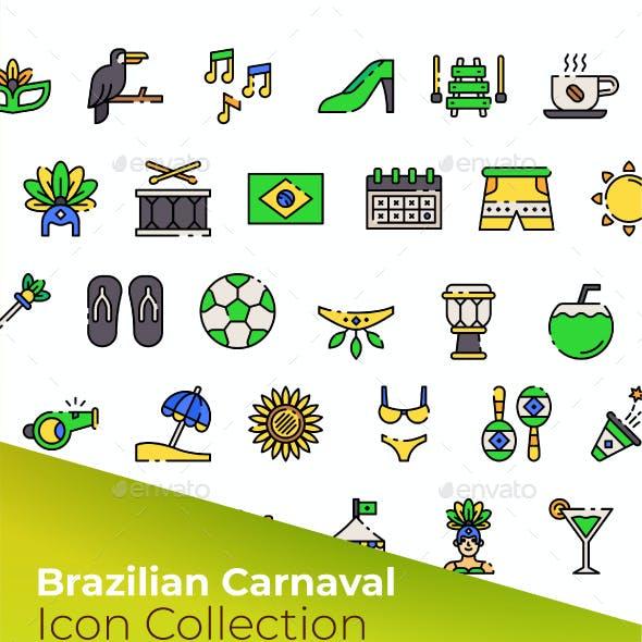 Brazilian Carnival Icon