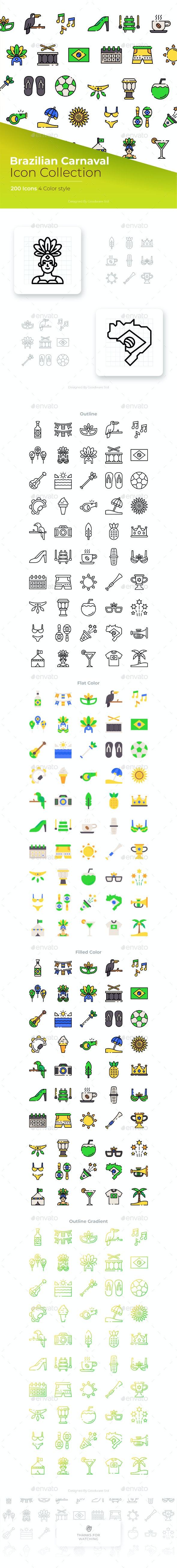 Brazilian Carnival Icon - Seasonal Icons