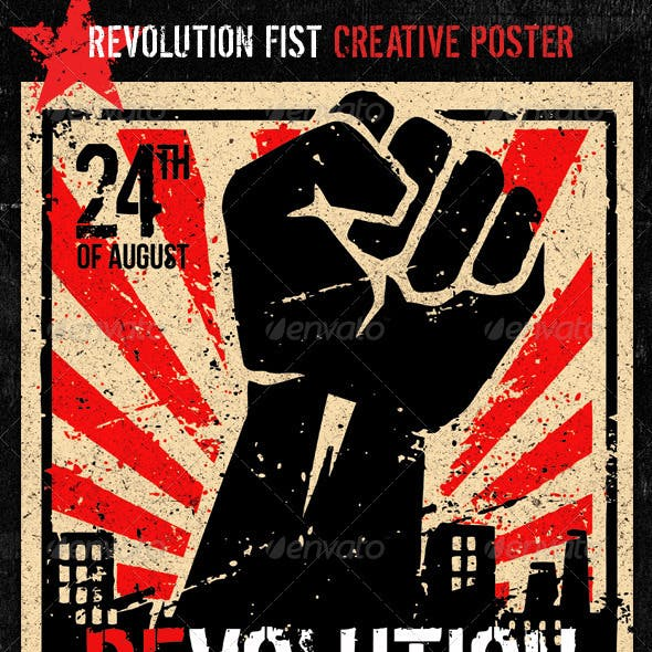 Revolution Fist Creative Poster