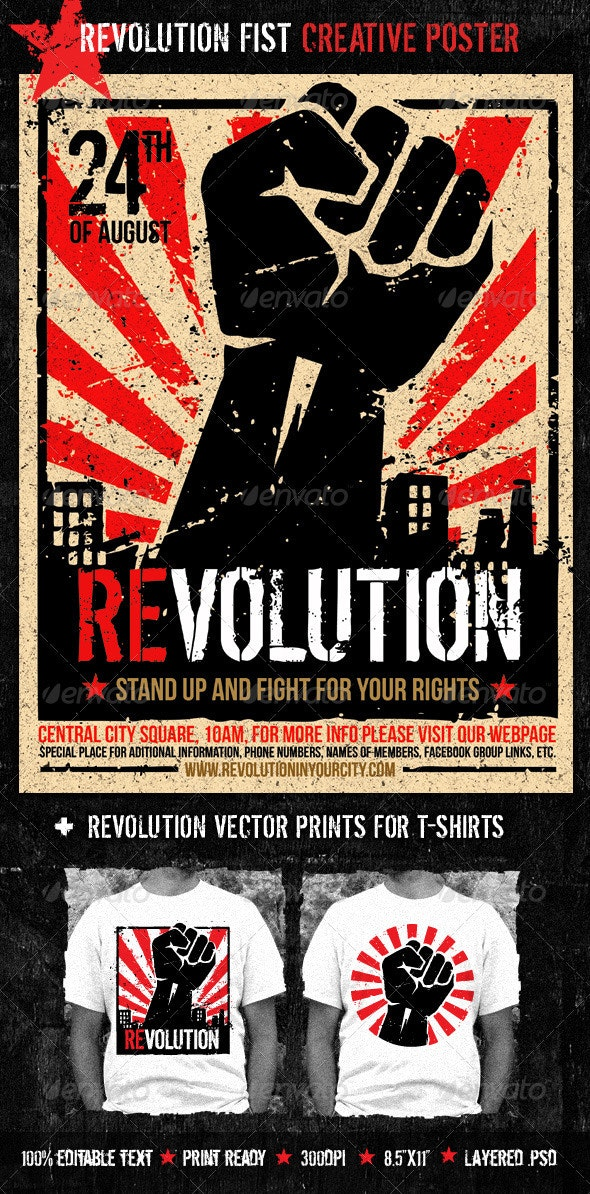 Revolution Fist Creative Poster - Miscellaneous Events