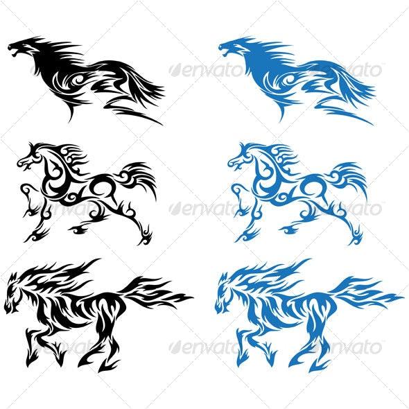 Horses design - Tattoos Vectors