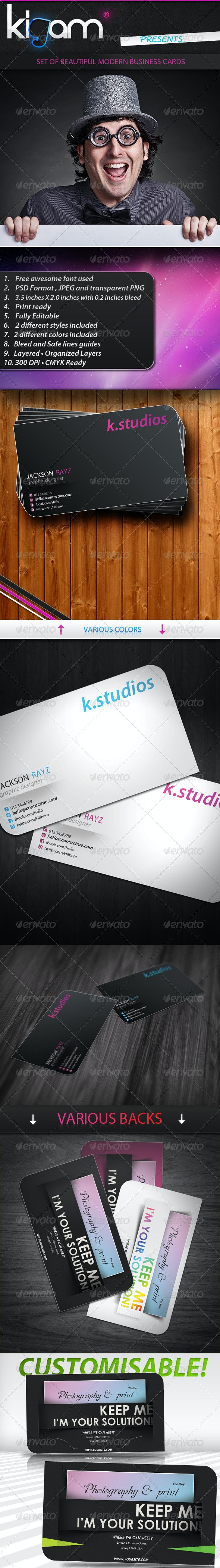 Premium Modern Business Card - Corporate Business Cards