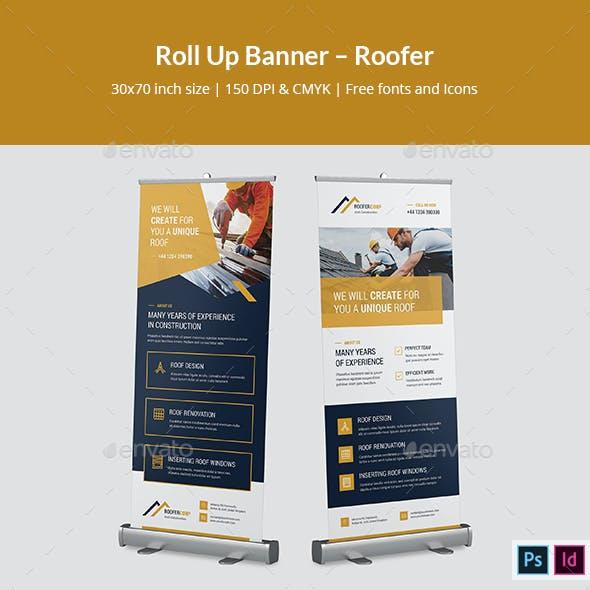 Roll Up Banner – Roofer