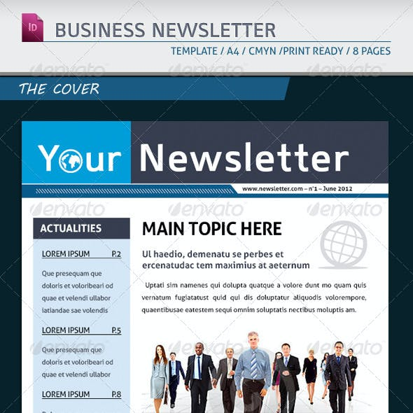 Modern Business Newsletter Template A4