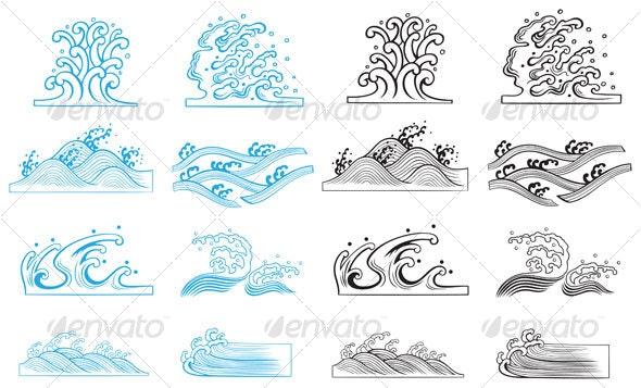 Waves design - Decorative Symbols Decorative