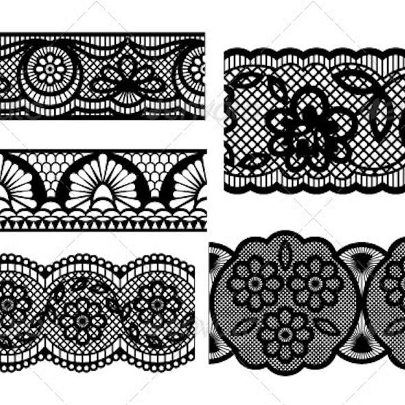 Lace. Decorative seamless patterns